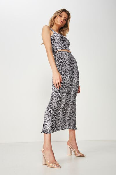 Party Maxi Bodycon Skirt, PRINCESS PYTHON