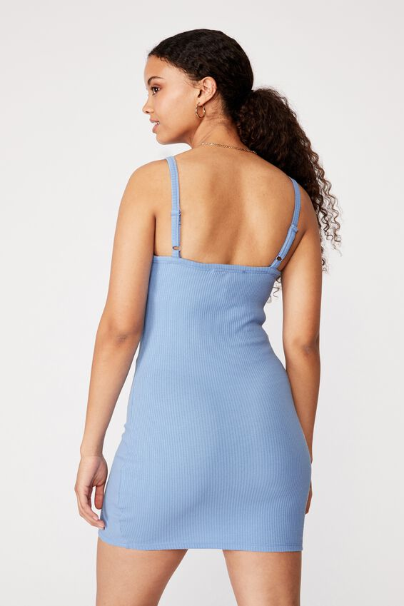 Emery Rib Mini Dress, BONNIE BLUE