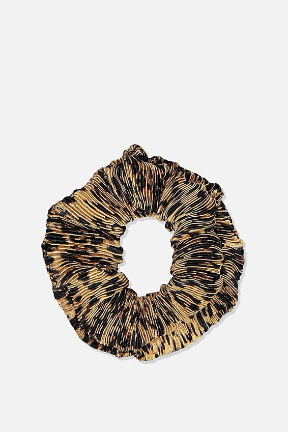 Scrunchie, PLEATED LEOPARD