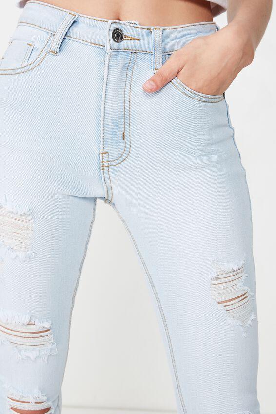 Skinny Premium Ripped Jean, POWDER BLUE