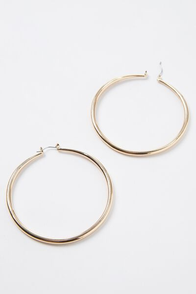 Thick Hoops, GOLD
