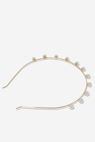 Pearl Headband, GOLD/PEARL