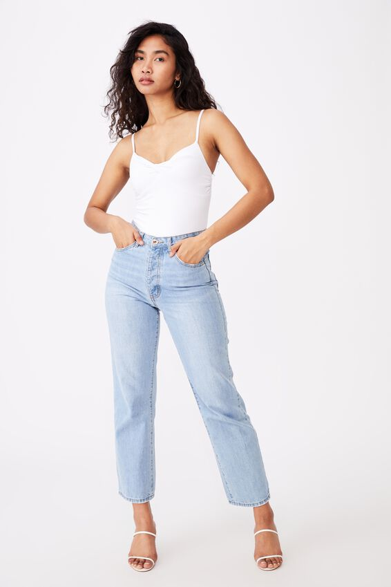 Joy Twist Bodysuit, WHITE