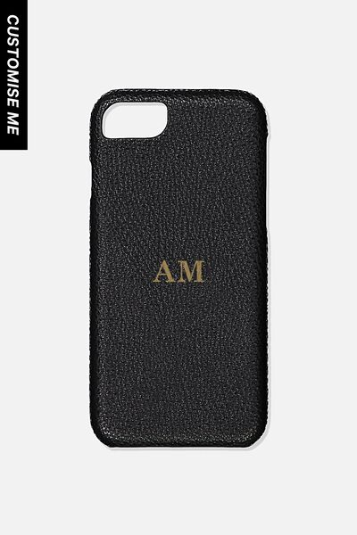 Customised Phone Cover- iPhone 6/7/8, BLACK PEBBLE