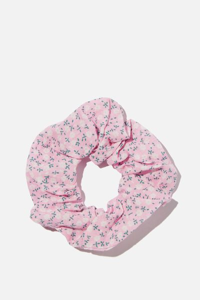 Floral Fields Scrunchie, PINK FLORAL