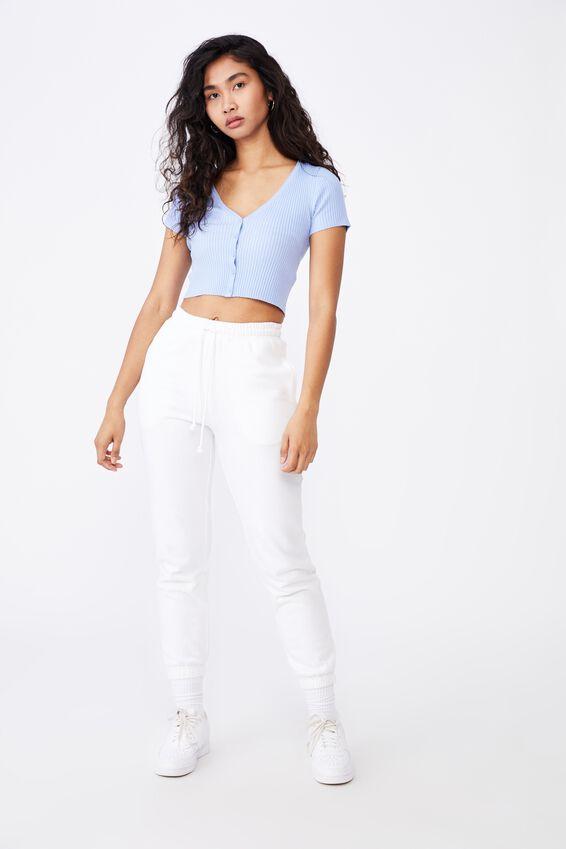 Liv Short Sleeve Button Through, BLUE PETAL