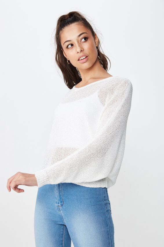 Jayden Lightweight Knit, WINTER WHITE