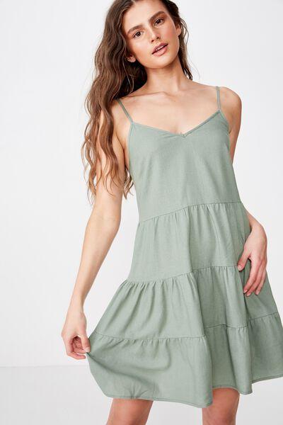 Sunlover Slip Dress, KHAKI
