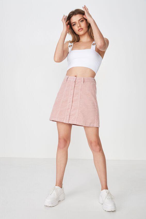 The Olsen Cord Skirt, MAUVE PINK