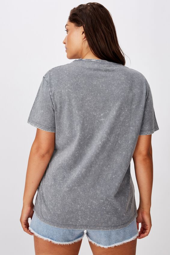 The Nirvana Tee, DARK WASH GREY/NIRVANA