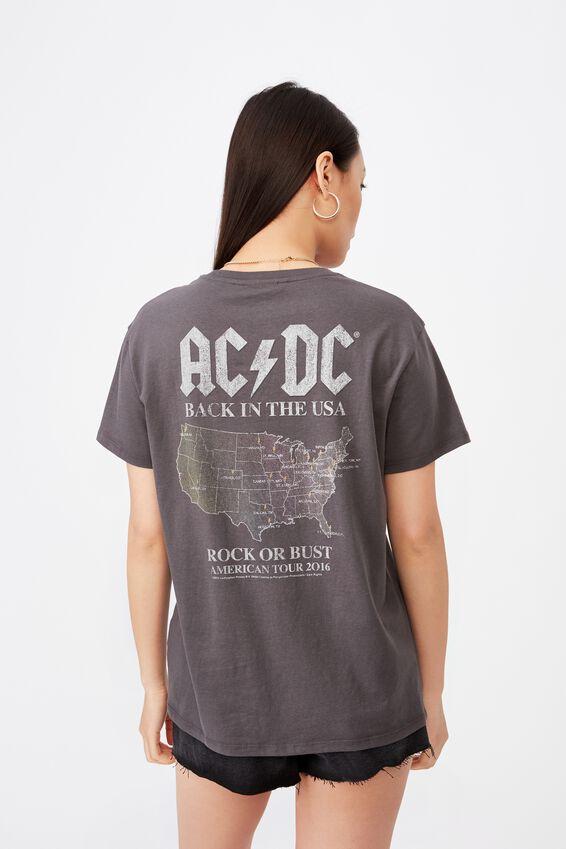 ACDC Tee, GRANITE GREY LCN PER BACK IN BLACK