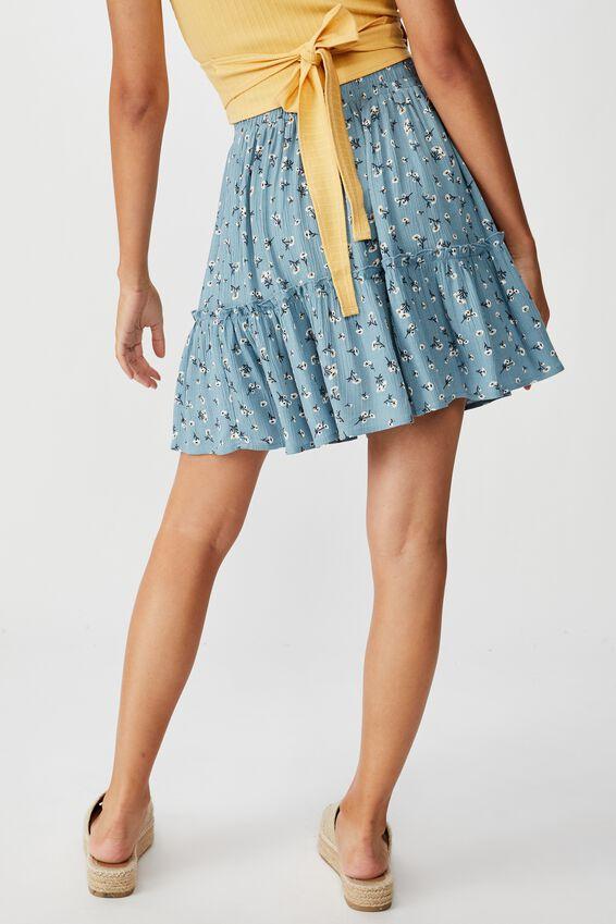 Kaiya Frill Hem Skirt, CLUSTERED SPROUT SAGE