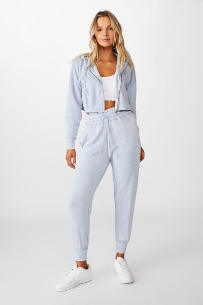 Paper Bag Waist Trackpant, WASHED BLUE RIDER