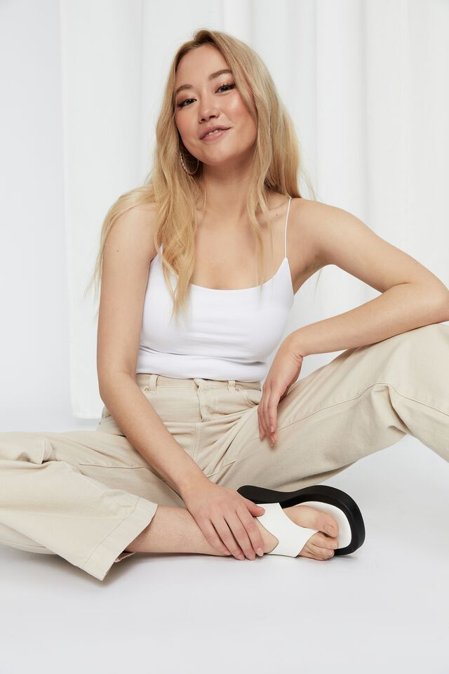 Wide Leg Jean, WHIPPED CREAM