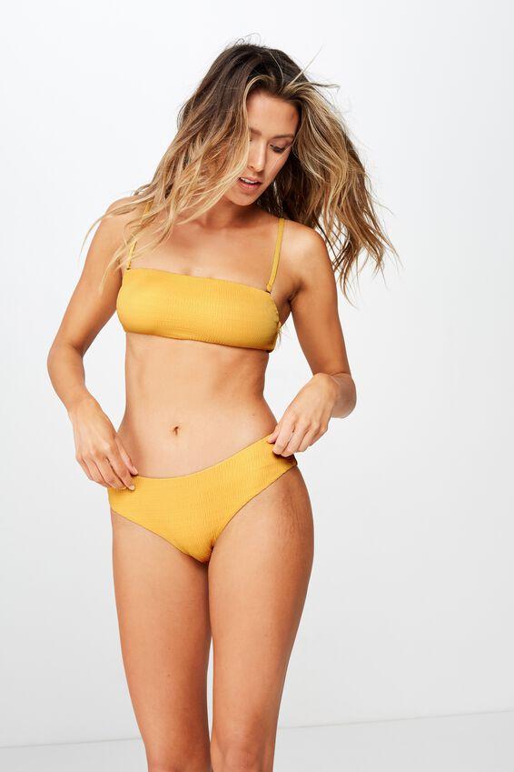 Noosa Seamless Bikini  Bottom, POPPY YELLOW CRINKLE