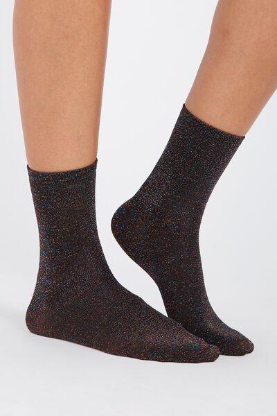 Rainbow Metallic Socks, OIL SLICK