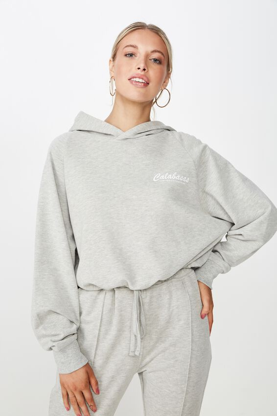 Adele Draw String Sweat, GREY MARLE/CALABASAS