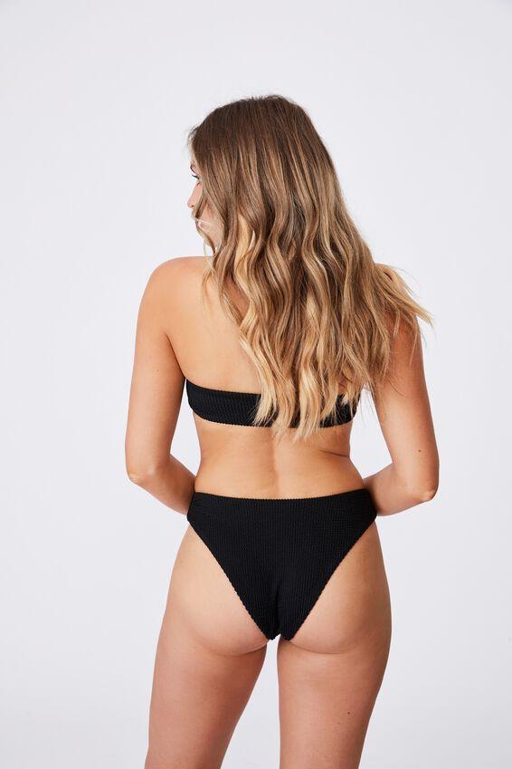Cape Cod Bandeau Bikini Top, BLACK/CRINKLE