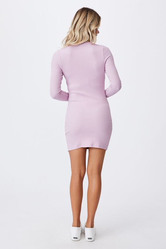 Laila Long Sleeve Mini Dress, PALE JASMINE