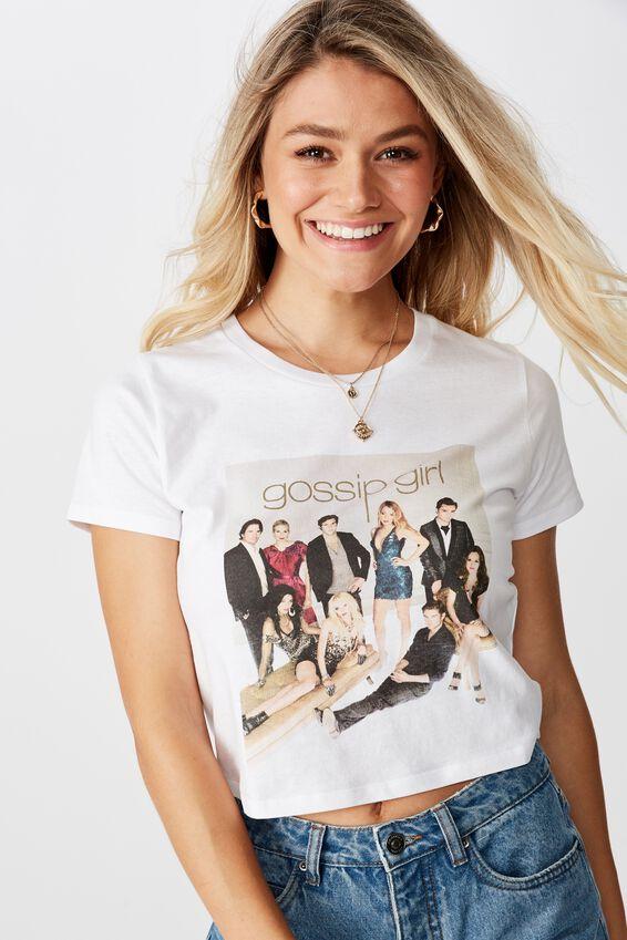 Gossip Girl Tee, WHITE/LCN WB GOSSIP GIRL CAST