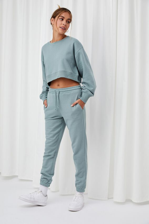 Nia Classic Track Pant, WILLOW GREEN