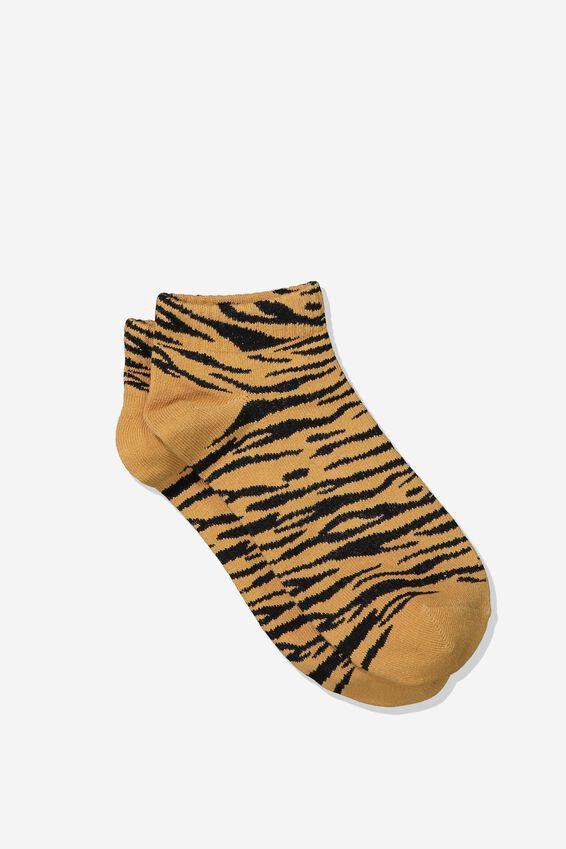 Rib Ankle Socks, ORANGE TIGER