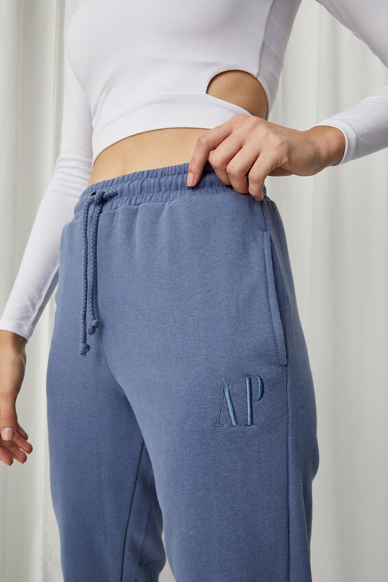 Personalised Nia Classic Track Pant, WASHED BLUE