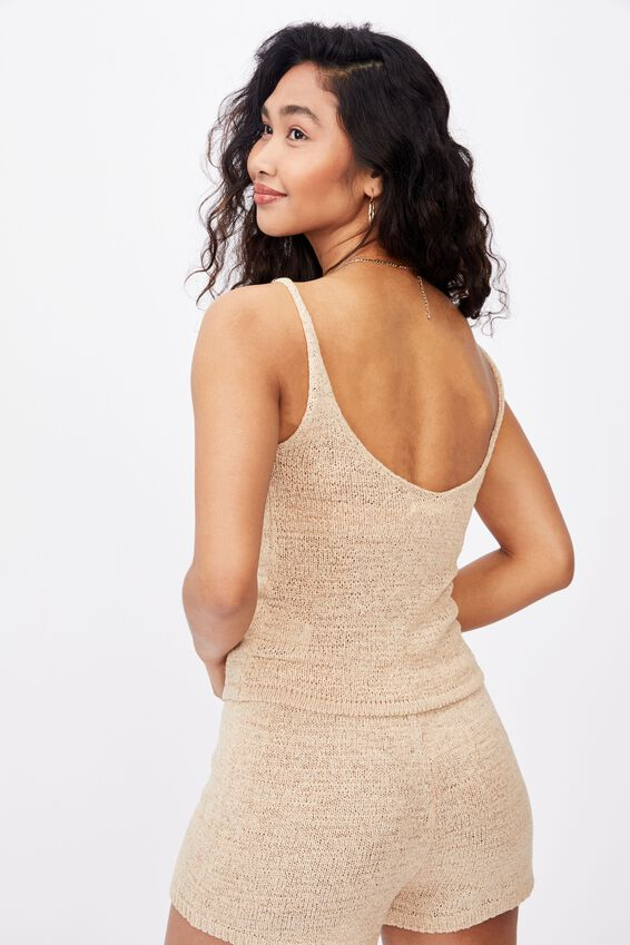 Renetta Knit Cami Co Ord, FRAPPE