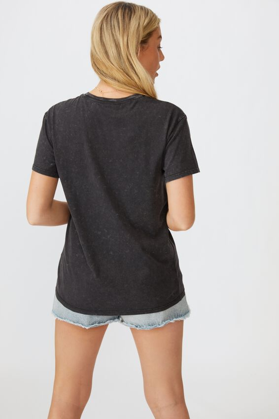 The Kendall Graphic Tee, WASHED BLACK/LCN BR GRID ROLLING STONES