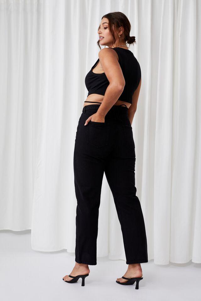 High Rise Straight Jean, CLEAN BLACK