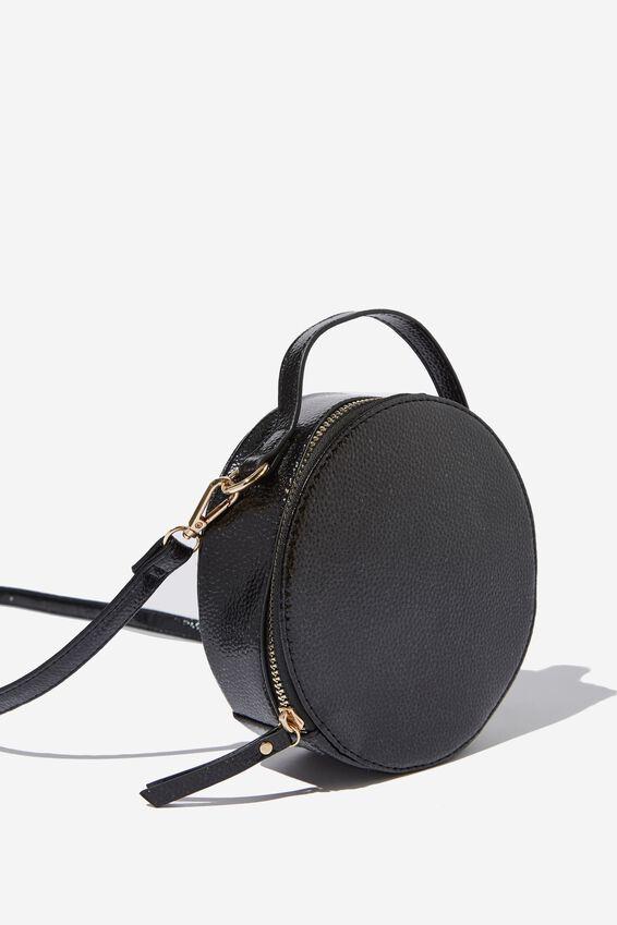 Kirsty Cross Body Circle Bag, BLACK PEBBLE