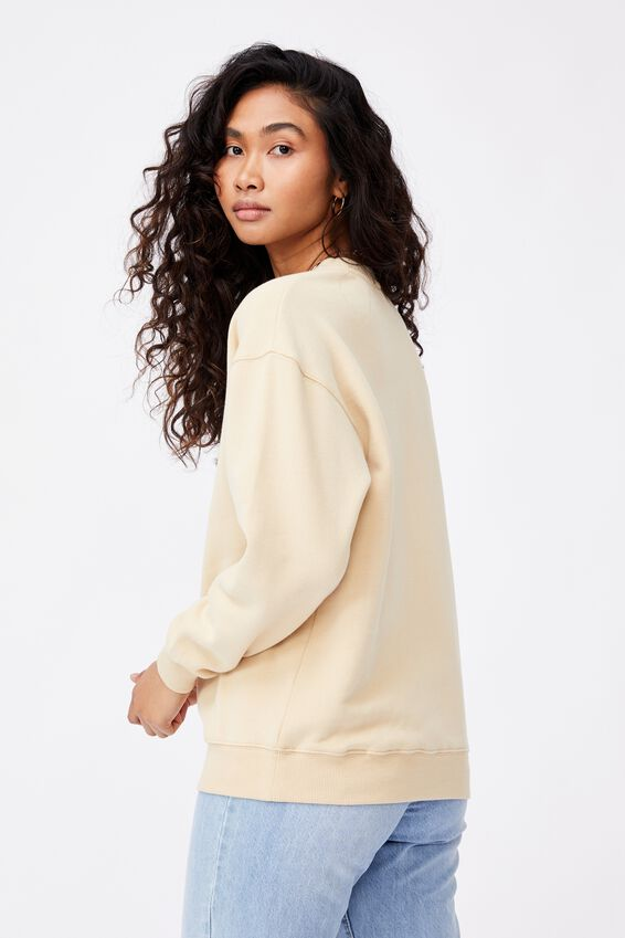 Tonya Oversized Crew Jumper, BUTTERMILK/FLORIDA