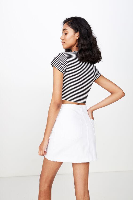 The Winona Denim Skirt, CLEAN WHITE