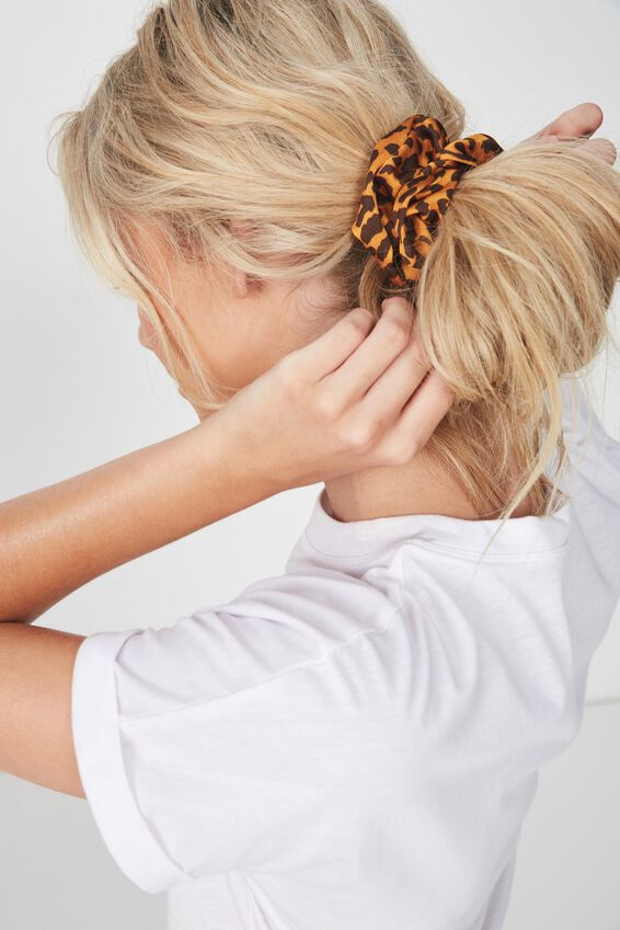 Satin Scrunchie, LEOPARD