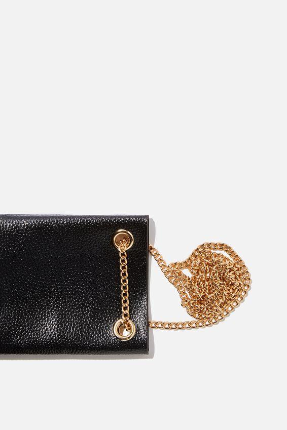 Gia Phone Pouch Cross Body Bag, BLACK