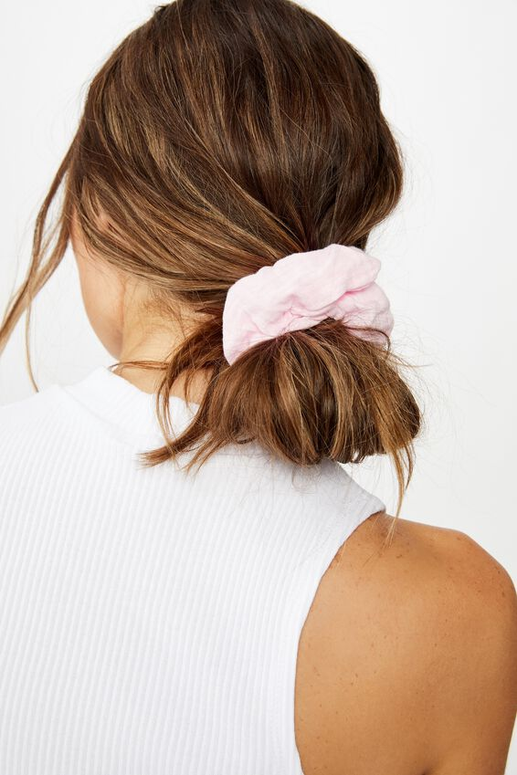 Cheesecloth Scrunchie, PINK FLOSS