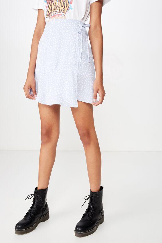 Macie Wrap Skirt, SPOT LEOPARD