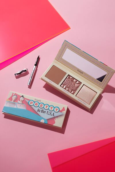 Benefit Pretty In The USA: Highlighter & Brow Palette Beauty Set, MULTI