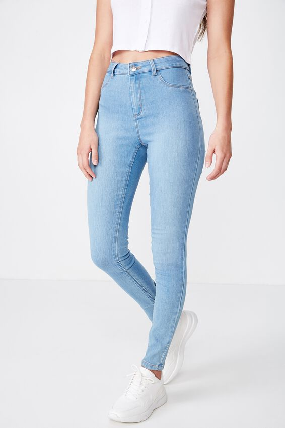 Long Super Skinny Jean, WAVE BLUE