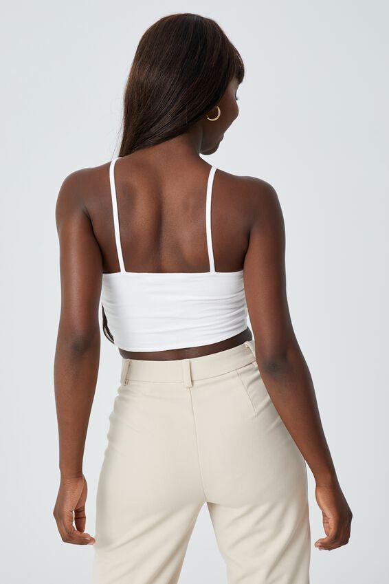 Orella One Shoulder Top, WHITE