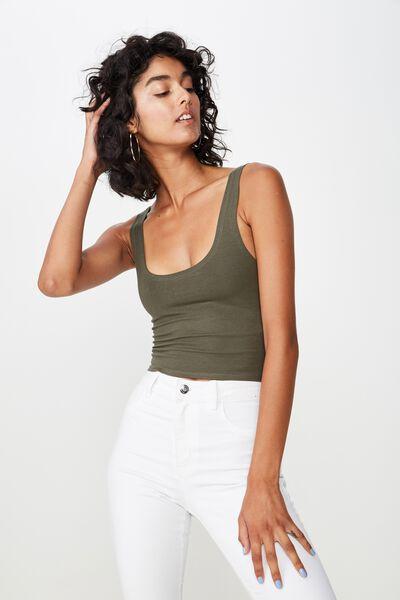 Bianca Midi Crop Top, JAY KHAKI
