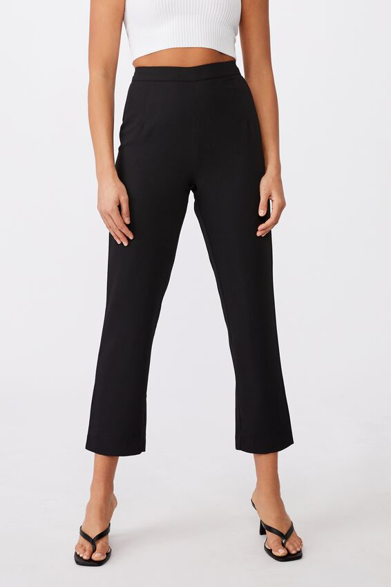 Stevie Tailored Pant, BLACK