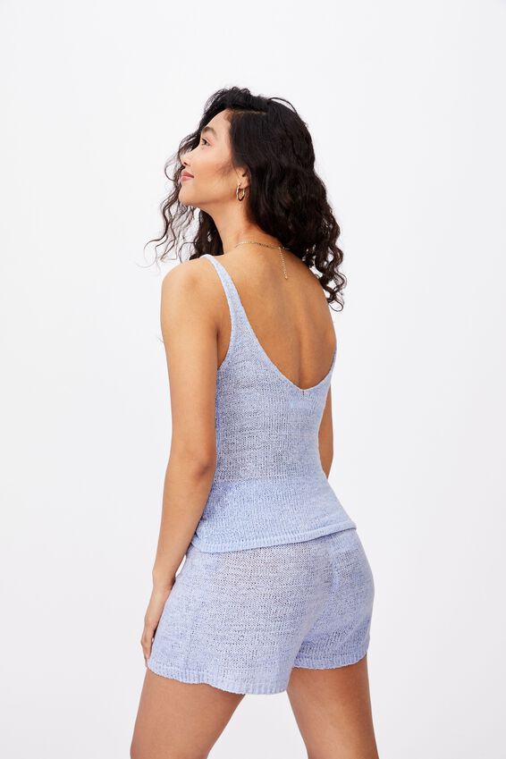 Renetta Knit Cami Co Ord, BLUE PETAL