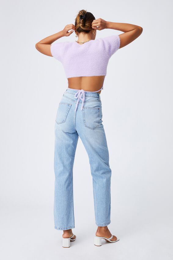 Fluffy Backless Co-ord Top, SWEET LILAC