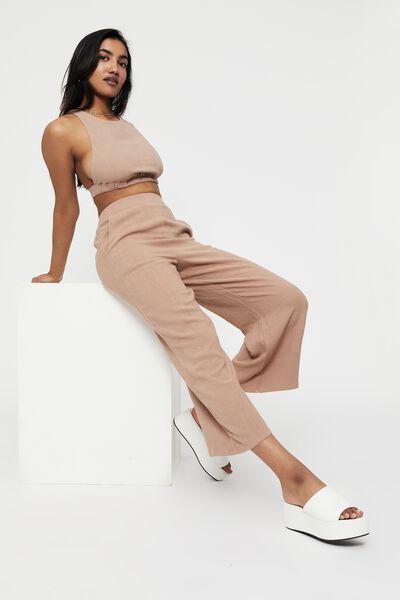Tamryn Wide Leg Pant, DESERT TAUPE