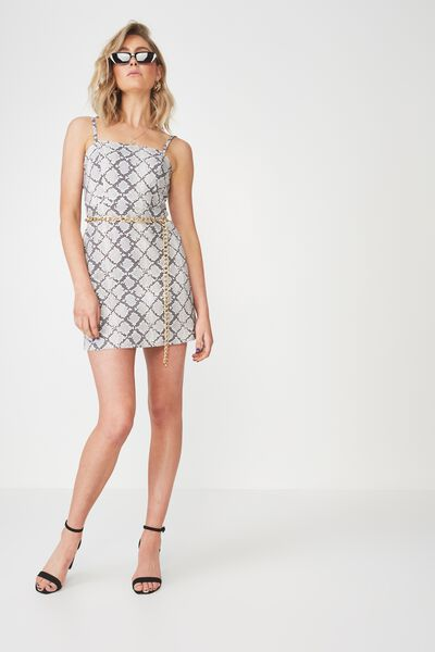 Basic 90s Fitted Cami Dress, PRETTY PYTHON