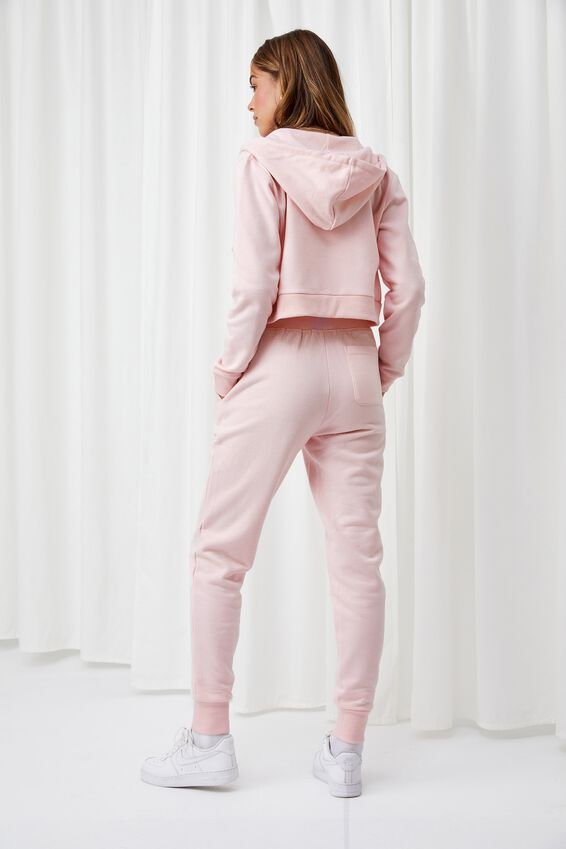 Erica Slim Fit Track Pant, PINK FROSTING