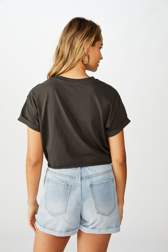Tamara Graphic Crop Tee, PHANTOM/TOMORROW BAND