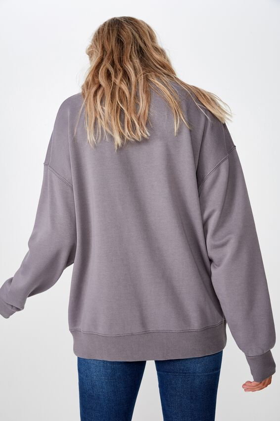 Sia Crew Neck Sweat, WASHED CEMENT GREY