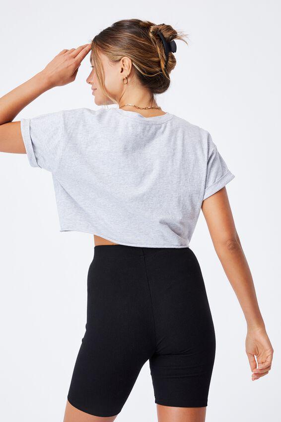 Ciara Crop T-Shirt, GREY MARLE